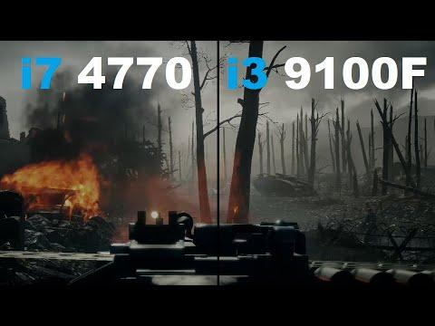 i7 4770 vs i3 9100F