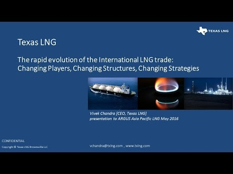 Presentation of the Evolution of LNG trade - May 2016
