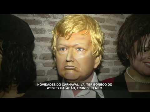 Safadão e Temer viram bonecos no carnaval de Olinda