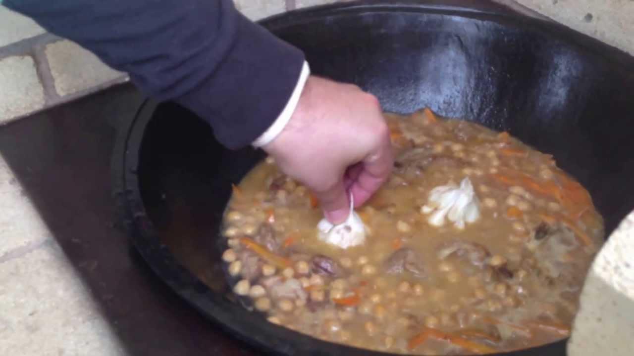 рецепт плова с бараниной и нутом в казане