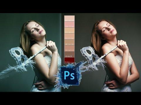 Ретушь кожи в один клик в Фотошопе / Цветокоррекция / Тонирование / Образцы цвета кожи