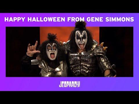 Happy Halloween From Gene Simmons and Alex Trebek | JEOPARDY!