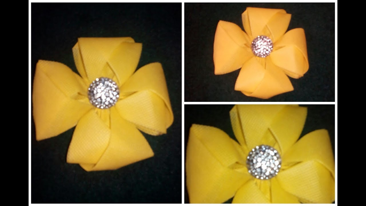 Diy yellow flower easy free tutorial 4 petal flower youtube diy yellow flower easy free tutorial 4 petal flower mightylinksfo