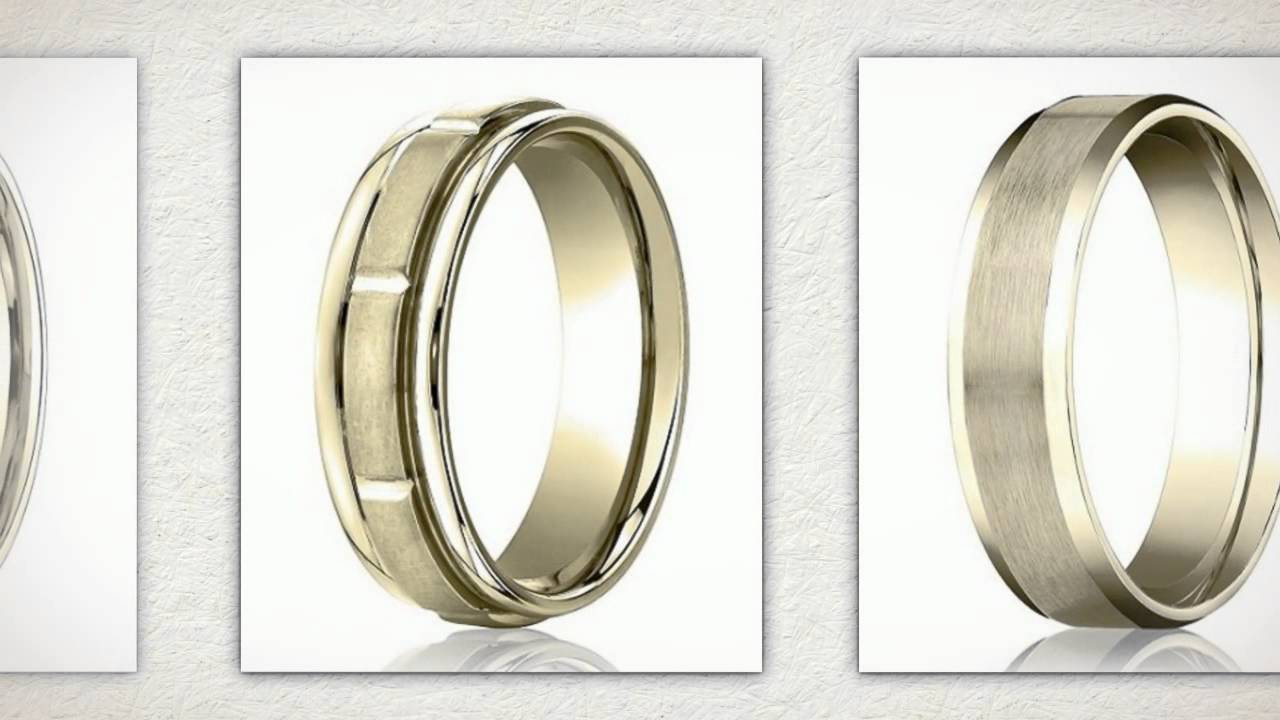 Mens gold wedding rings for th anniversary youtube
