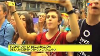 Suspenden la declaración de independencia catalana
