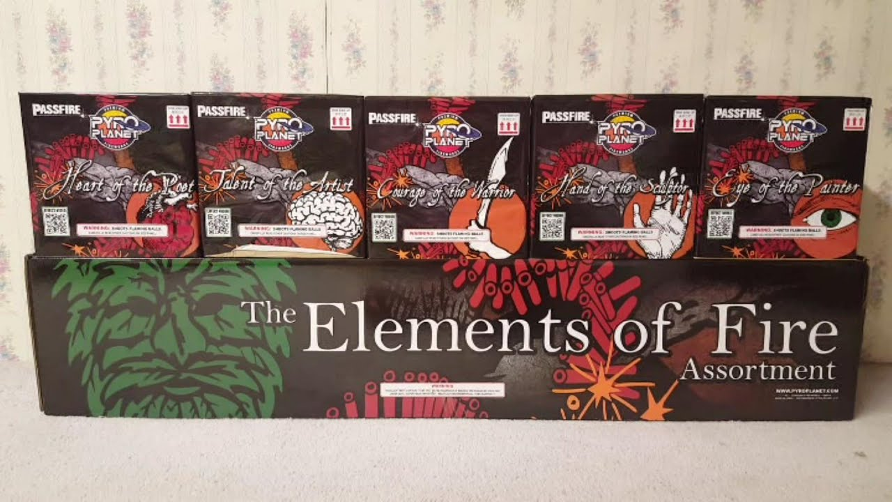 Fireworks Unboxing (Cake Assortment) - The Elements of Fire (Pyro Planet)