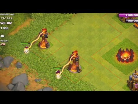 Clash of Clans New Inferno Tower lvl 4 + Mortar lvl 9!