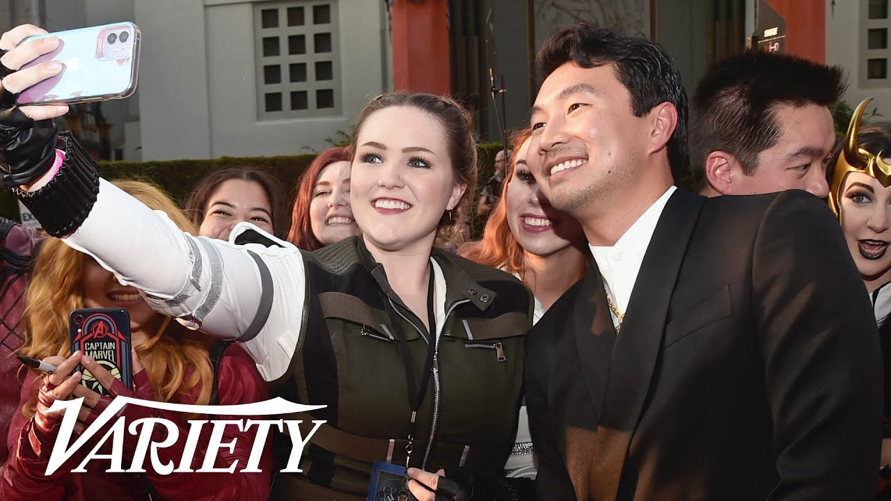 Simu Liu at the Premiere of 'Shang-Chi and the Legend of the Ten Rings'