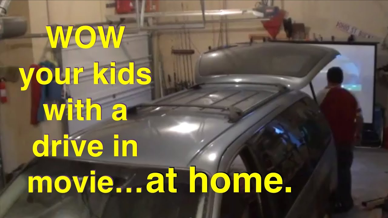 How To Setup A Drive In Movie Theater At Home Youtube