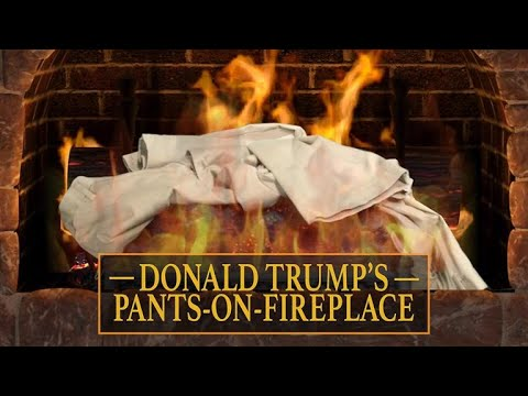 See Late Show Skit - Donald Trump's Pants-On-Fireplace!