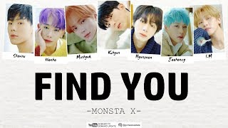 MONSTA X - FIND YOU [EasyLyrics/IndoSub] by GOMAWO