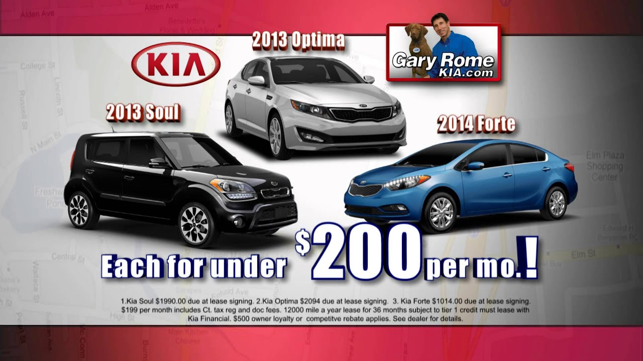 Gary Rome Kia >> 3 Kia S For Under 200 Only At Gary Rome Kia Of Enfield