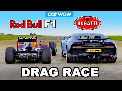 Bugatti Chiron v F1 Car: DRAG RACE