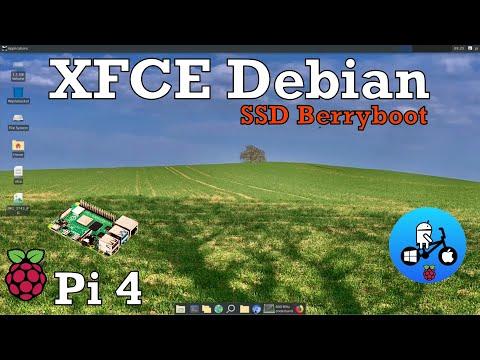 XFCE Desktop. Raspberry Pi 4. SSD 2147MHZ Overclock.