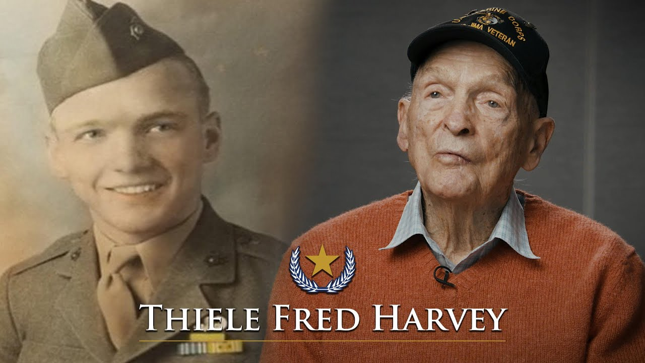 Silver Star Iwo Jima Vet Thiele Fred Harvey tells his story (Full Interview)