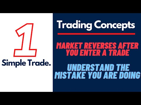 Do Markets reverse right after you take a trade , understand and take correct entries.
