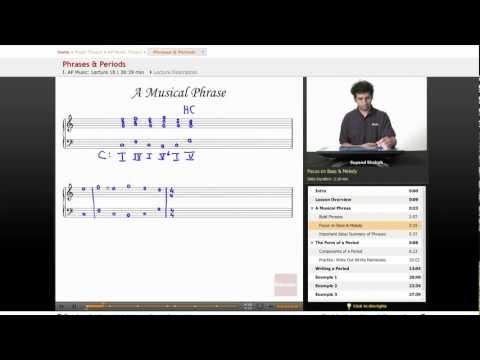 AP Music - Phrases & Periods