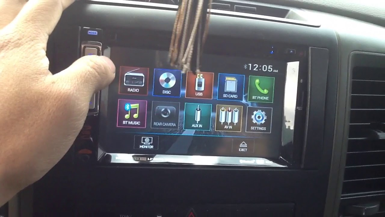 2009 2012 dodge ram dual dv527bt bluetooth touchscreen