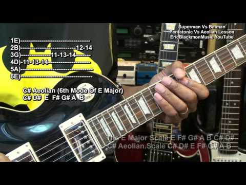 The Pentatonic Scale Vs The Aeolian Scale Guitar Lesson EricBlackmonGuitar