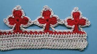 Crochet border Кайма крючком урок 337