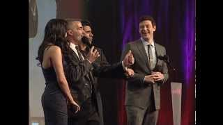 Naya Rivera, Cory Monteith & John Stamos at the GLAAD Media Awards #glaadawards
