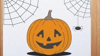 How to draw pumpkin head