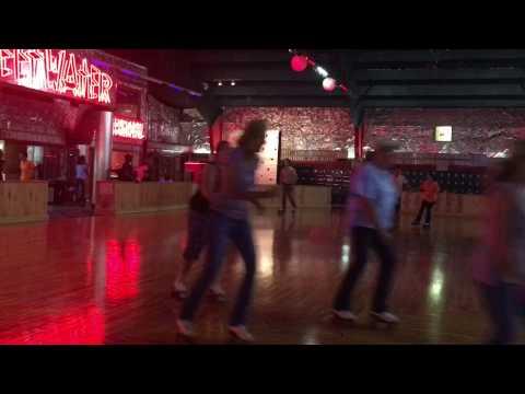 Lynwood skating rink with Doug & Diana Robertson & Caleb Smith