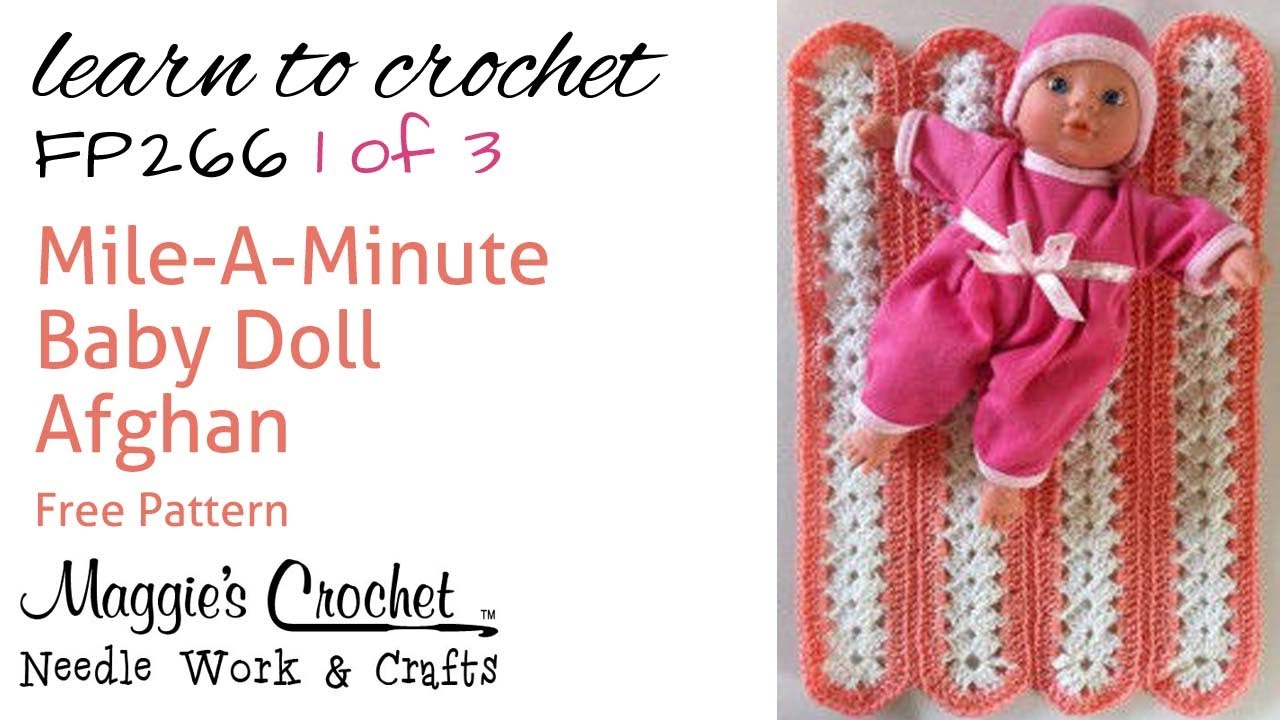 Mile A Minute Afghan Part 1 Of 3 Right Hand Free Crochet Pattern