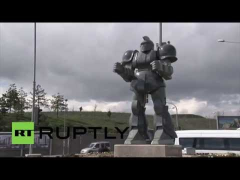 Turkey: Ankara mayor sued over giant robot 'Transformers' statue