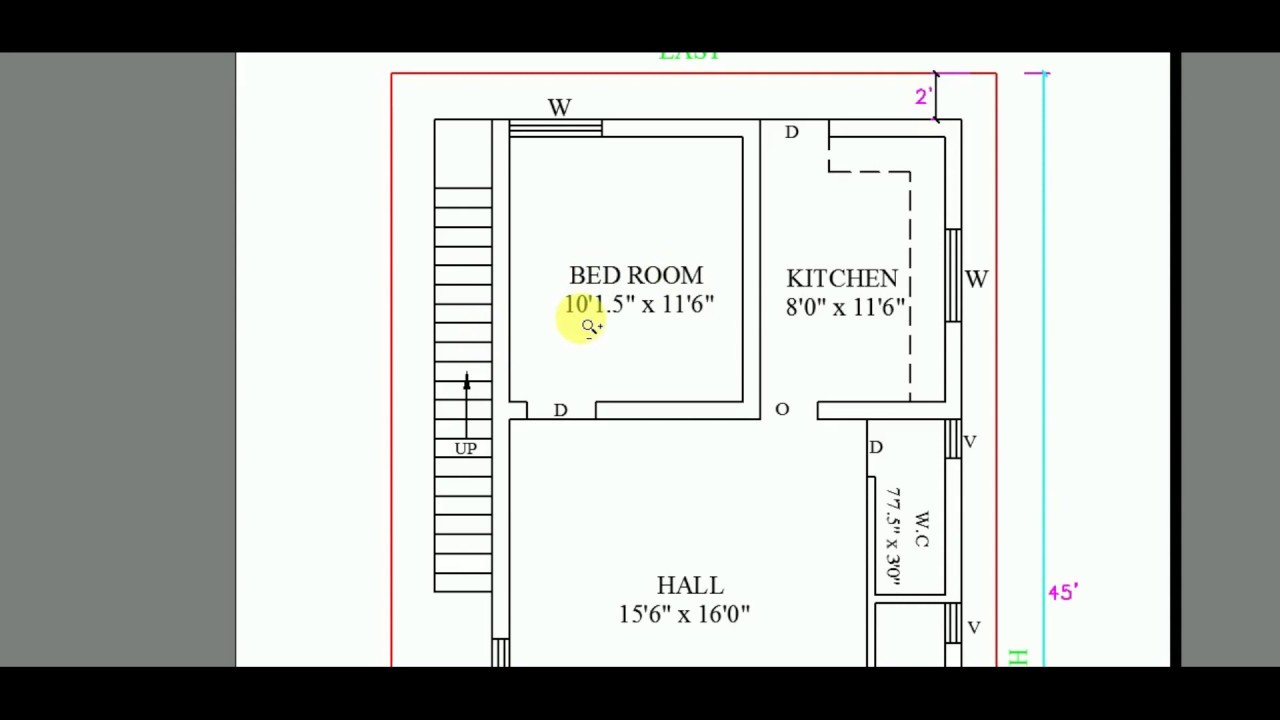 West facing building plan 26 x 45 2022 YouTube