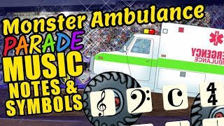 Monster Ambulance Teaching Musical Notation and Symbols Educational Music Video for Kids