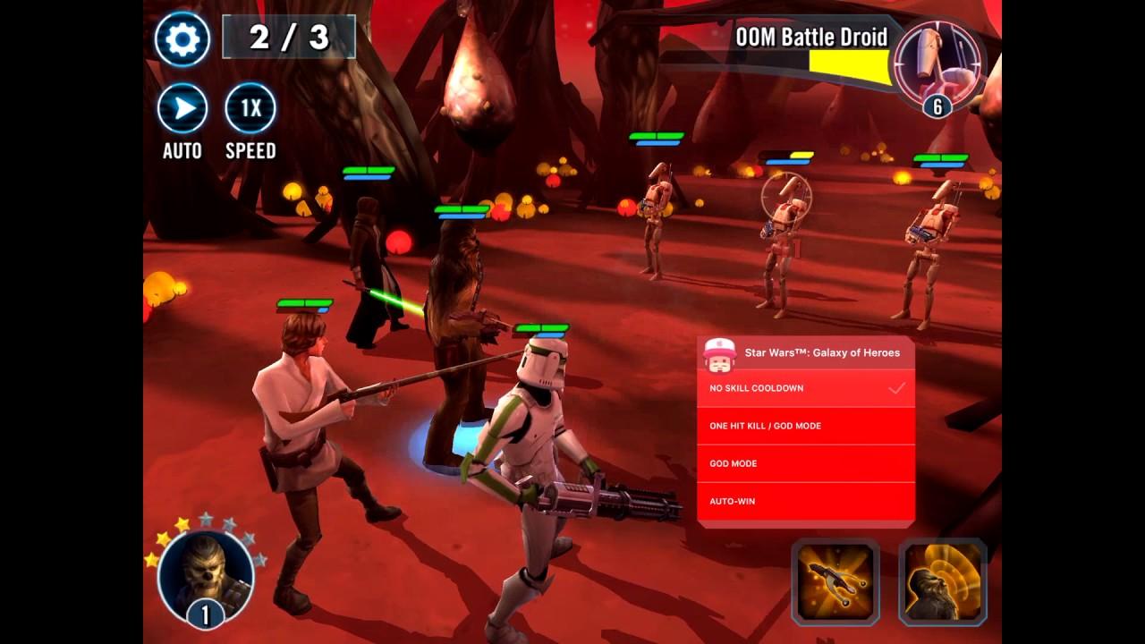 Star Wars Galaxy of Heroes God Mode & More Mod Menu Hack iOSGods com