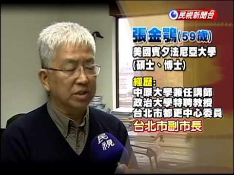 政大教授張金鶚 4/1上任副市長-民視新聞 - YouTube