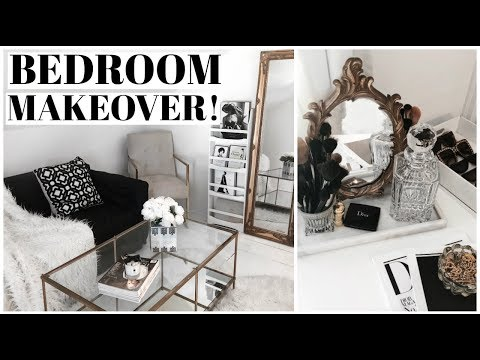 RE-DECORATE WITH ME! Bedroom Makeover