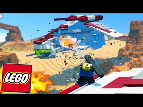 LEGO Worlds - LEGO Land Spaceship Build! Sky Base, Cloud City & More! #8 (LEGO Worlds)
