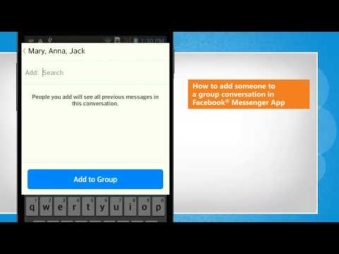How To Add Someone To A Group Conversation In Facebook® Messenger App