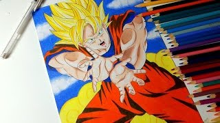 Speed Drawing GOKU /Desenhando GOKU (Dragon ball z)