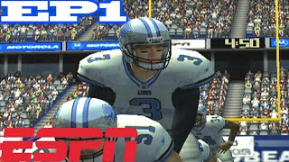 SHOULD WE PASS ALL DAY OR NAH - ESPN NFL 2K5 LIONS FRANCHISE VS BEARS - s1w1 ep1