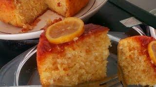 The BEST Semolina cake with lemon syrup (Mauritian Maspin Greo)