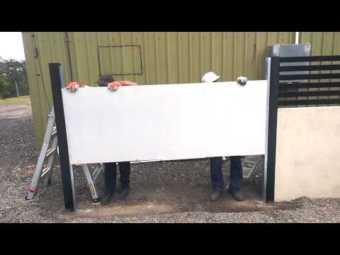 Quickbuilt Acoustic Fence System Installation Video - YouTube