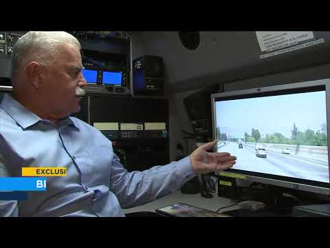 The Woody Show - Bus Smashes Through Center Divider of Highway