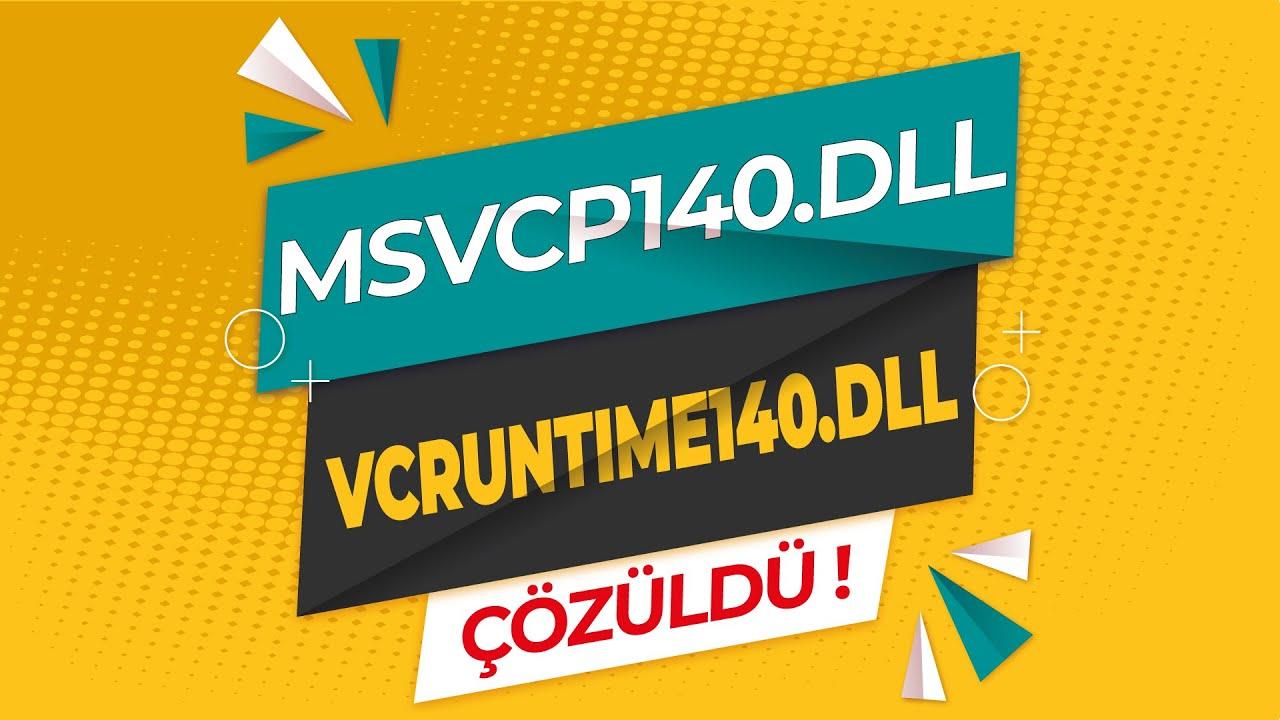 Pubg Lite msvcp140.dll Hatası, Pubg Lite msvcp140.dll Hatası Çözümü