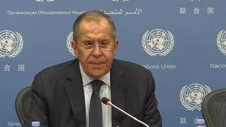 Пресс-конференция С.Лаврова по итогам  74-й сессии ГА ООН, Нью-Йорк, 27 сентября 2019 года