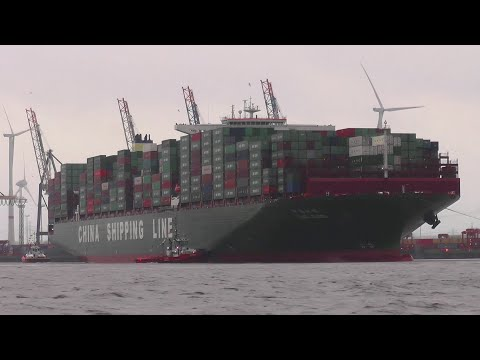 CSCL GLOBE | World's longest container ship | Maiden call at Port of Hamburg