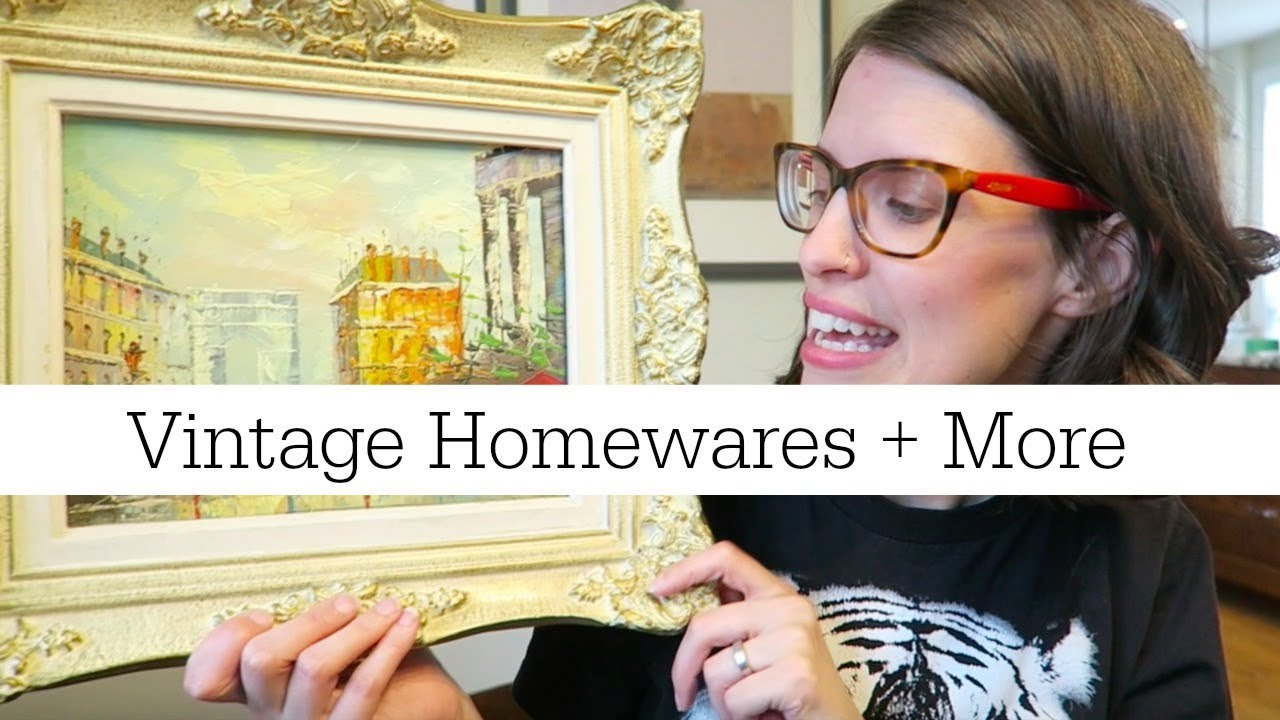 Huge Thrift Haul May 2018 | Vintage Home Decor, Books and More - YouTube