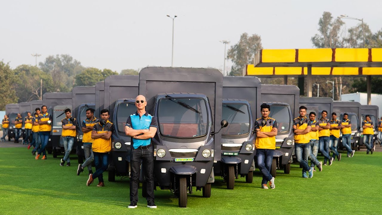 Amazon to bring 10,000 electric delivery rickshaws to India by 2025 - In an effort to reduce carbon emissions, we're bringing 10,000 electric delivery rickshaws to India by 2025. #ClimatePledge