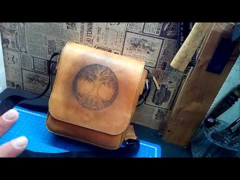 Кожаная сумка ручной работы.