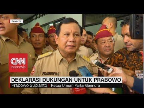 Prabowo Dapat Dukungan Pensiunan Kopassus TNI AD untuk Pilpres 2019