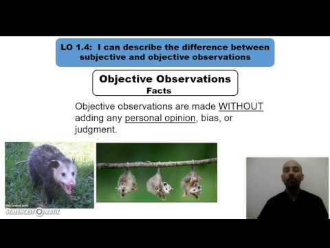 Comparing subjective observations and objective observations