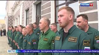 В Чите торжественно встретили десантников-пожарных, тушивших лесные пожары в Тюменской области